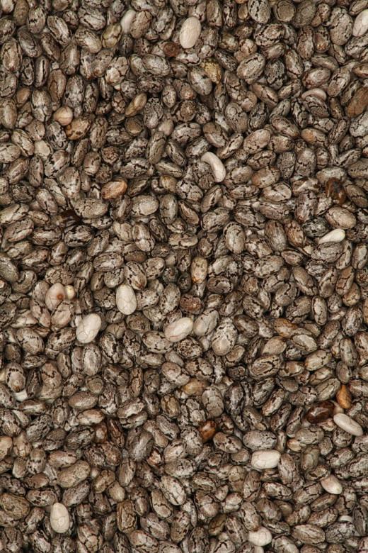 Chia seeds macro sized