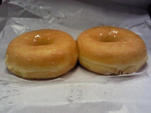 Fresh baked doughnuts