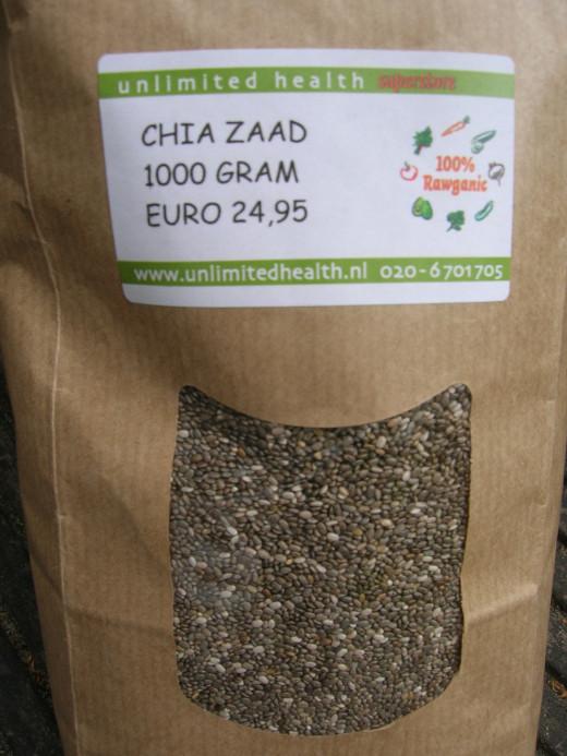 Chia seeds bag