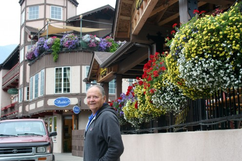 Larry enjoying the day at Leavenworth