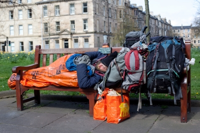 """Homeless Man In Edinburgh Stock Photo"" Published on 28 July 2014 Stock Photo - Image ID: 100277568"