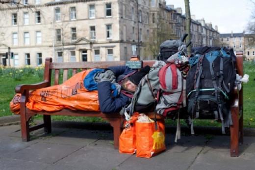 """Homeless Man In Edinburgh Stock Photo"" Published on 28 July 2014 Stock Photo - Image ID: 100277568"