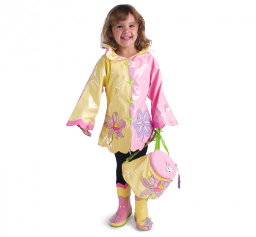 Kidorable Lotus Flower Rain Gear