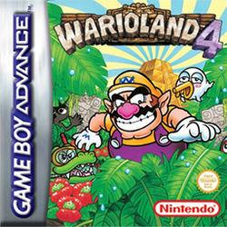 The European cover art for Wario Land 4.