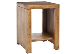 Safavieh Lahoma End Table, Medium Oak
