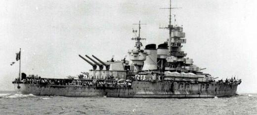The Italian Battleship Roma