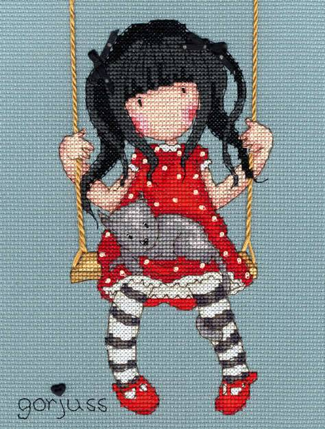 The Gorjuss series of cross stitch kits are particularly popular with slightly older girls.