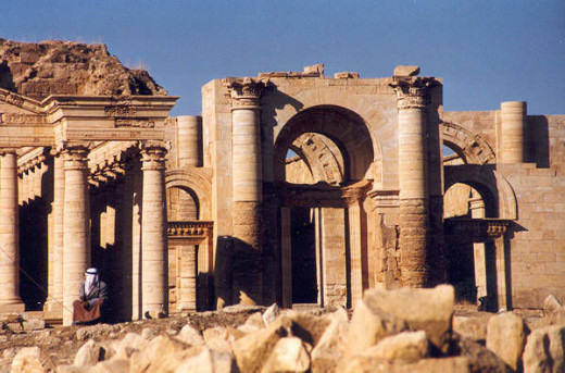 The ruins of temple in Hatra.