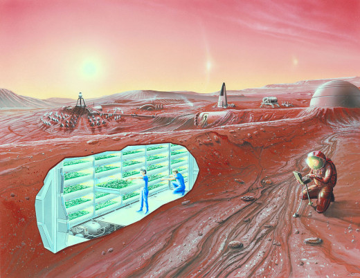 Mars Colony Concept Art - Wikipedia.