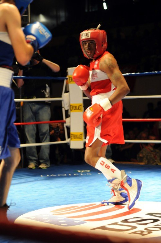 The flicker jab is generally thrown from a modified guard in which the lead hand is held low.
