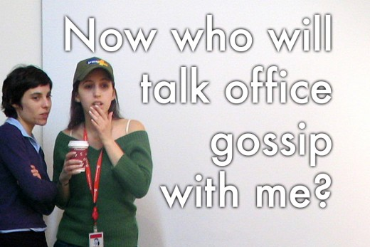 Office goodbye message: 'Now who will talk office gossip with me?'