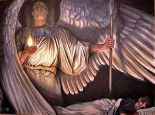 The Bible also teaches that angels are sent by God as messengers, helpers and protectors for us.  They are not to be worshipped.