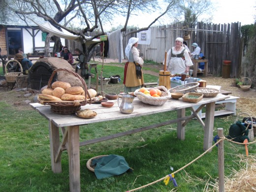 Seventeenth Century Crofter exhibit showing peasant life in Scotland and Ireland.