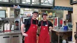 These guys work as cooks in a successful truck stop