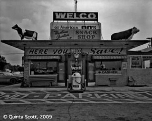 Vintage truck stop