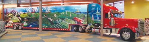 Walcott, Iowa's truck stop lobby