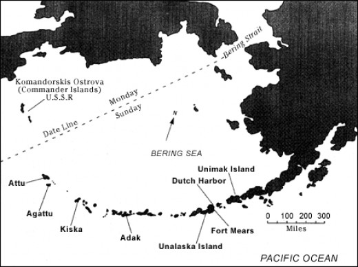 The Commander Islands are the westernmost islands in the Aleutian chain.