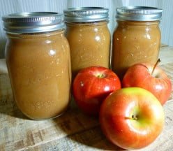 The finished homemade canned applesauce.