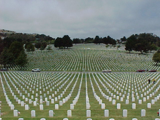 National Veterans Cemetery  Jaw dropping site to see in person, goes on for miles.