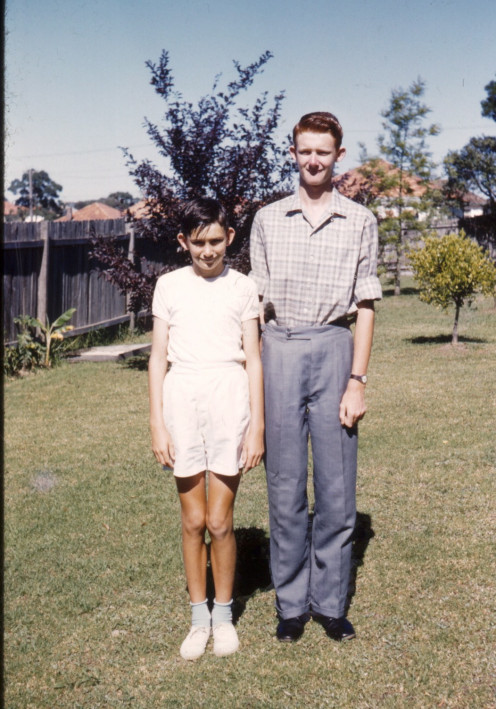 "My bro and I standing tall. Actually I'm taller than him. I'm now 190cm/6'4""......"