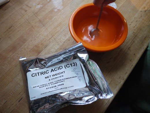 Citric acid is an excellent natural product to remove limescale, soap scum and detergent buildup.