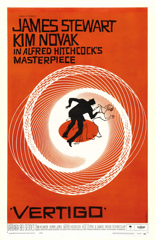 Movie poster for Vertigo.
