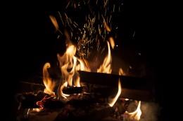 Night-time bonfires