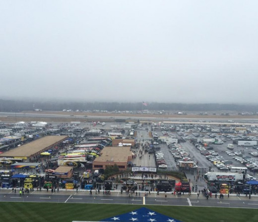 The March weather in Atlanta is unpredictable but it's clearly not the best time of year for NASCAR's sole visit to the track