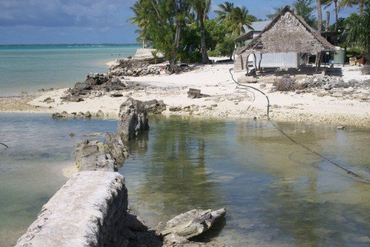 Destroyed seawall one of climate change ill-effects in Kiribati