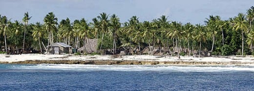 Pacific sea islands of Kiribati are  threatened by rising sea level