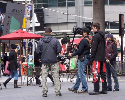 Toronto.  One of the cool things about Toronto.  You can bump into a famous director making a movie.  People are so used to it, they just look, smile and get on with their business.