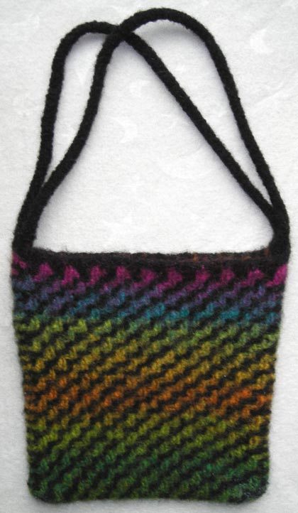 Diagonal Ripple Felted Purse