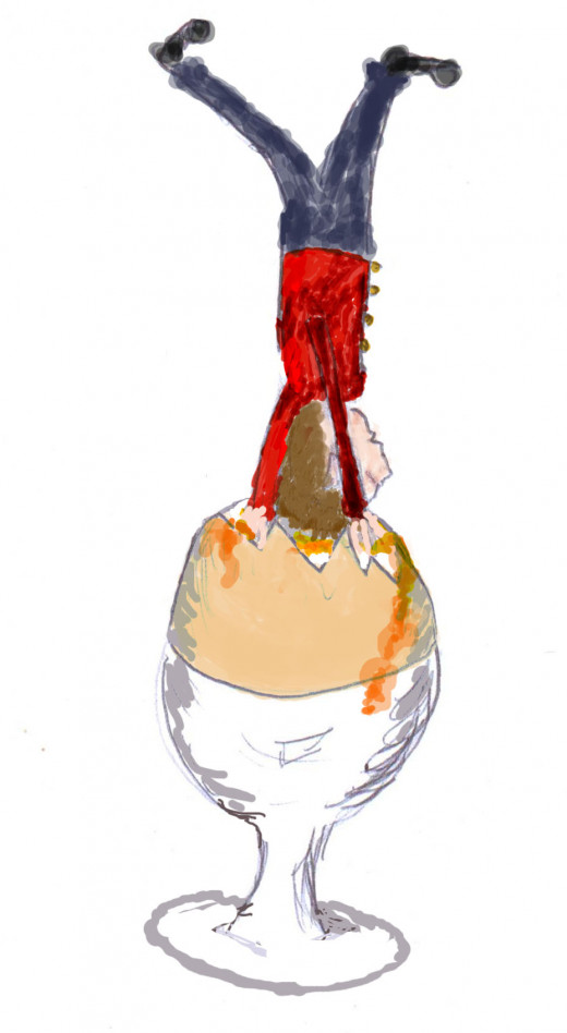 The Soldier Dipping His Head In The Egg