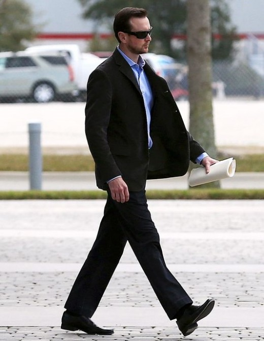 Busch, walking away from the family court hearing