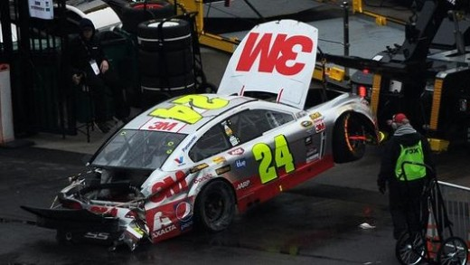 For the second straight week, Gordon's race ended with a wreck