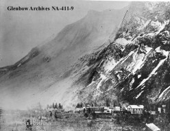 The town of Frank, Alberta on April 30, 1903, one day after the Frank Slide.