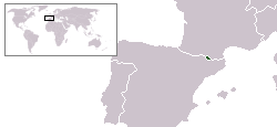 Map location of Andorra