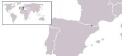 Map location of Andorra