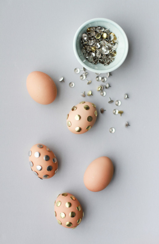Polka Dot Thumbtack eggs