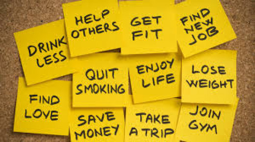 Make realistic resolutions and promises!