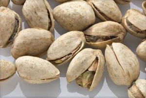 Pistachios with black fungus