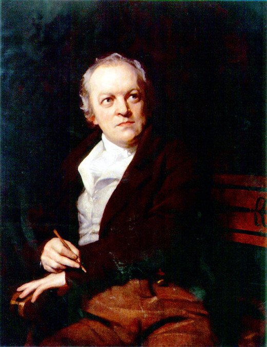 Portrait of William Blake by Thomas Phillips. Photographer unknown. Image in the public domain.