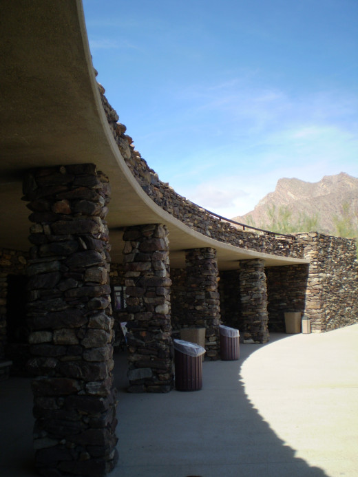 The stylized Visitor Center at Anza-Borrego Desert State Park.