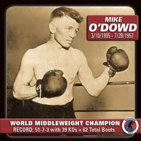 Mike O'Dowd is the former undisputed middleweight champion of the world.