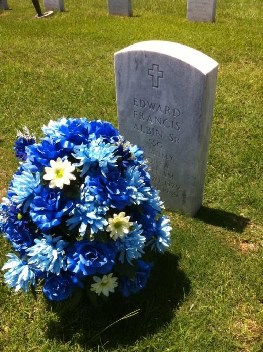 My Dad's grave at Ft. Benning, Georgia
