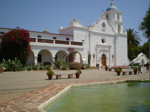 Mission San Luis Rey de Francia, Oceanside, CA. c. 1798.