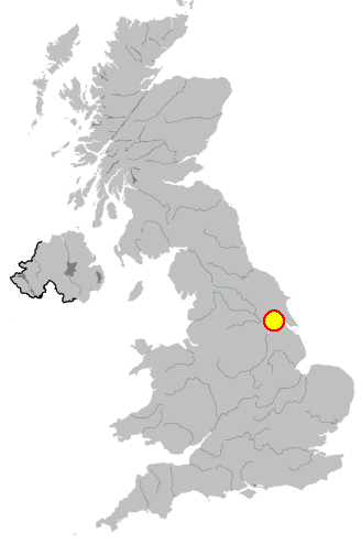 Map location of Hull in the United Kingdom