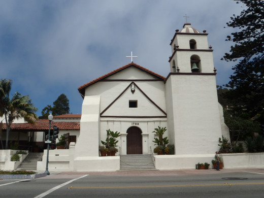 Mission San Buenaventura, Ventura, CA, c. 1782.