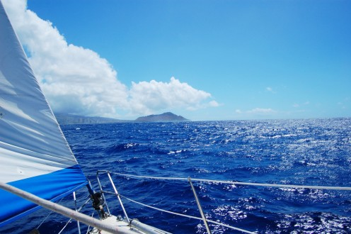 There's a tremendous sense of speed, liberation and exhilaration when you're sailing