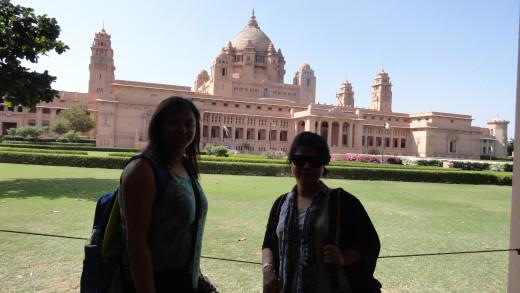 Dipti and Jayanti  - Umaid Bhawan Palace playing the perfect back drop